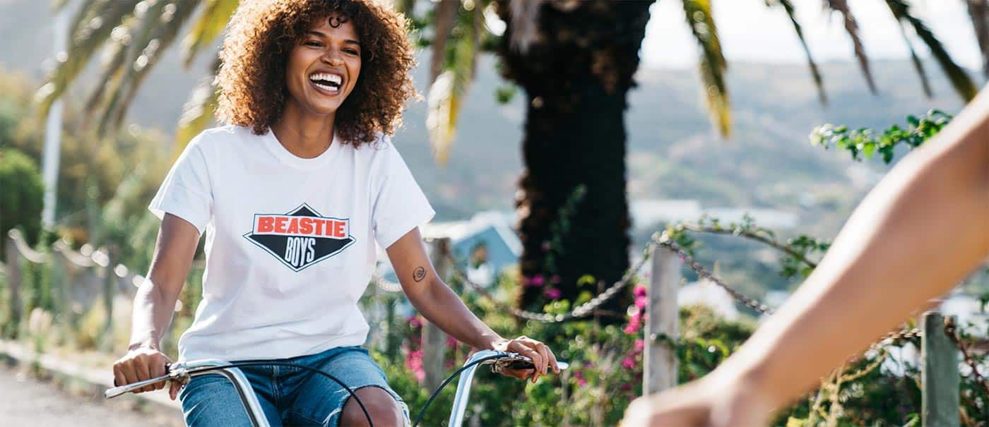 Filming & photographing with young woman on a bicycle in Cape Town.
